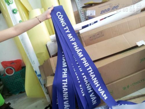 Dải băng đeo chéo in vải silk cho Công ty Mỹ phẩm Phi Thanh Vân
