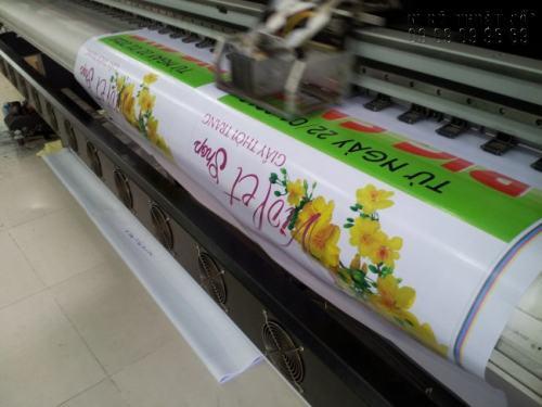 Banner quảng cáo hiflex in bằng công nghệ in uv cho ra thành phẩm sắc nét, độ bền màu cao