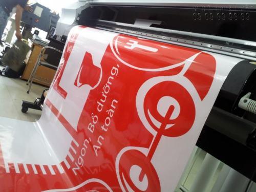 In UV PP keo chất lượng cao dùng làm poster quảng cáo, decal dán vật phẩm  quảng cáo, in bồi Fomex