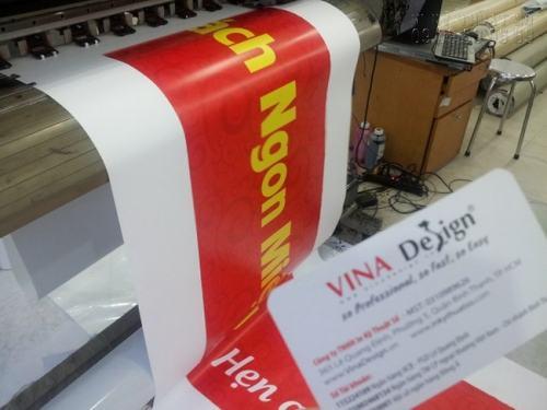 Sản phẩm in băng rôn, khẩu hiệu đều được in trên máy in khổ lớn, chất lượng in ấn tuyệt đẹp tại Công ty In Kỹ Thuật Số