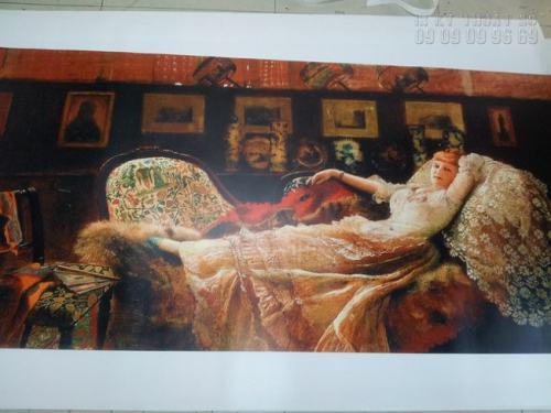 In tranh treo tường phong cách Châu Âu trên nền vải canvas chất lượng cao, đẹp, sang trọng treo phòng khách