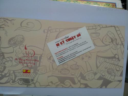 In thiệp mừng các loại trên chất liệu giấy mỹ thuật (giấy art) cao cấp, chất lượng sang trọng và tuyệt vời