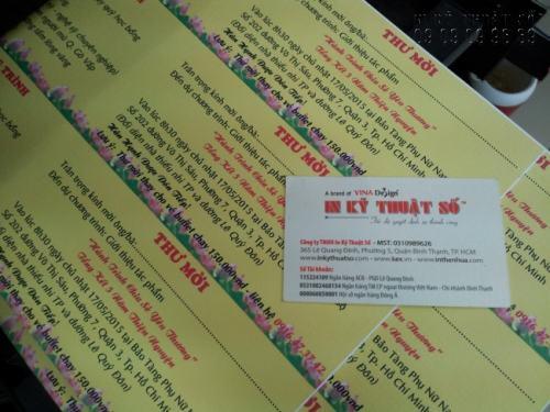 In giấy mời, thư mời, thiệp mời các loại trên chất liệu giấy mỹ thuật cao cấp cho thành phẩm sang trọng