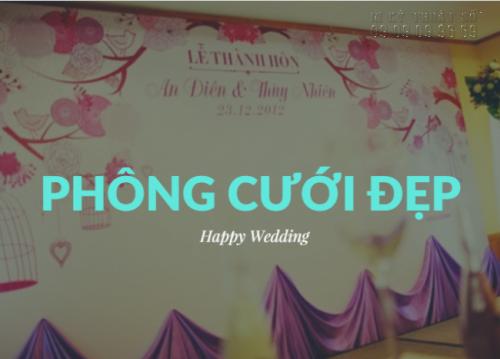 In phông cưới đẹp, giá rẻ trên chất liệu bạt hiflex chất lượng cao từ In Kỹ Thuật Số