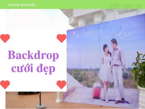 In backdrop cưới hiflex nhanh, rẻ, đẹp trang trí tiệc cưới đẹp tuyệt vời cho bạn