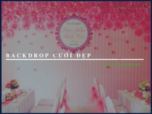 In backdrop cưới đẹp, giá rẻ, in nhanh chóng tại Công Ty In Nhanh
