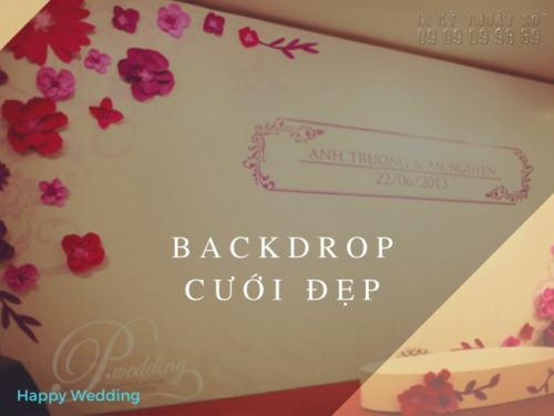 Backdrop cưới in trên chất liệu hiflex siêu đẹp