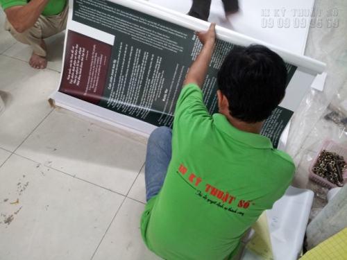 Gia công bồi format cho phông nền in PP | Loại hình in tranh PP cho triển lãm
