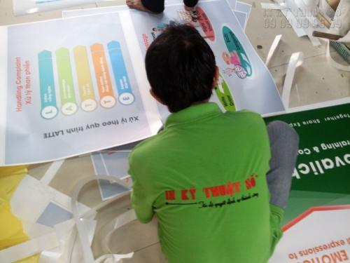 Cắt thành phẩm banner khổ nhỏ cho buổi thuyết trình