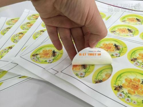 In Kỹ Thuật Số sử dụng máy bế Mimaki thực hiện bế chuẩn xác nhất kích thước cho thành phẩm tem nhãn decal sữa