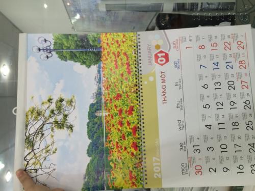 Mẫu lịch để bàn 2017 - Chủ đề Danh lam Thắng cảnh Việt Nam 2