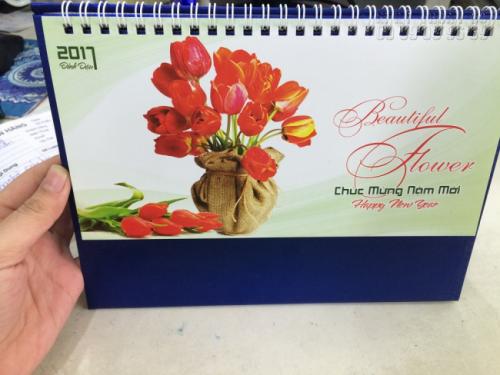 Mẫu lịch để bàn 2021 - Chủ đề Hoa Tulip