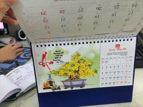 Mẫu lịch để bàn 2017 - Chủ đề Hoa mai 4