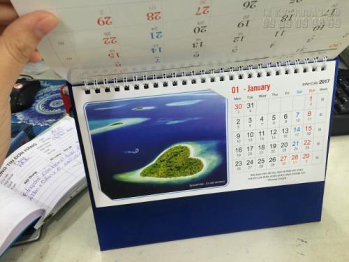Mẫu lịch để bàn 2017 - Chủ đề Danh lam Thắng cảnh nổi tiếng Thế giới 2