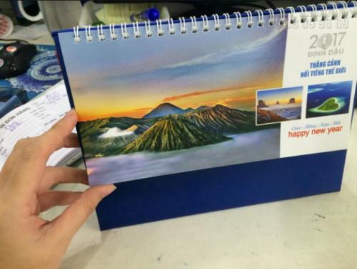 Thiết kế lịch tết 2017 độc quyền với Tiên cảnh  nổi tiếng thế giới