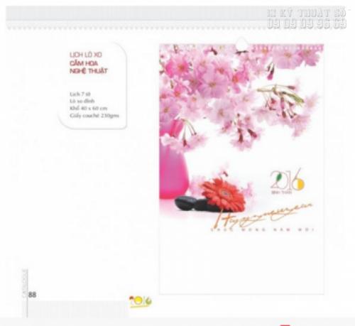 In lịch Tết Đinh Dậu đẹp 1 tờ giá rẻ với hình ảnh sắc hoa tươi đẹp và rạng ngời, tôn thêm vẻ đẹp cho bộ lịch của bạn