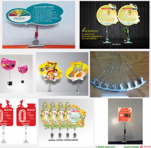 In wobbler lò xo kẹp sắt làm quảng cáo tiện lợi, độc đáo, thiết kế theo yêu cầu khách hàng tại In Kỹ Thuật Số