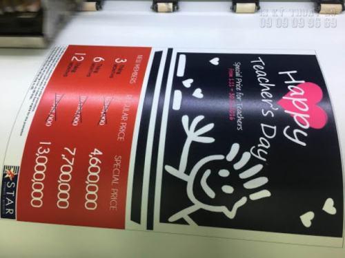 In Decal sticker nhanh chóng, sử dụng mực in UV cho thành phẩm sắc nét, đẹp và in giá rẻ tại Công ty TNHH In Kỹ Thuật Số