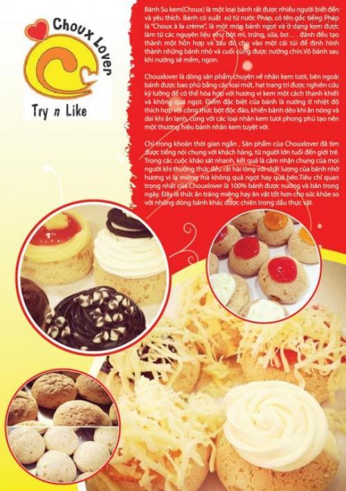 Tờ rơi quảng cáo kem in khổ A4, hình ảnh đẹp, chân thực cho Choux Lover