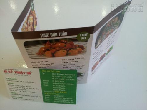 Tờ rơi dạng gấp 3, flyer tiện ích, in ấn đẹp mang lại hiệu quả quảng cáo cao
