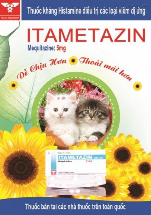 Tờ rơi A5 quảng cáo thuốc kháng Histamine điều trị các loại viêm dị ứng, in ấn đẹp
