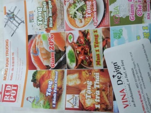 In Tờ rơi A3 sắc nét tích hợp bản đồ, màu sắc tươi sáng quảng cáo mừng khai trương cho nhà hàng ReDPot