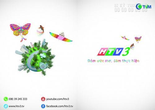 In Tờ rơi khổ A4 cho kênh HTVT3 - Đài truyền hình TPHCM
