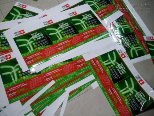 In Tờ rơi giá rẻ Bình Thạnh trên giấy ảnh bóng, đẹp, giá rẻ ngay tại Bình Thạnh với Công ty TNHH In Kỹ Thuật Số - Digital Printing