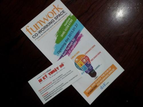 Tờ rơi màu quảng cáo tìm việc làm FunWork bố cục hài hòa, màu sắc bắt mắt, tạo hiệu ứng quảng cáo tốt hơn do In Kỹ Thuật Số thiết kế và in ấn trọn gói