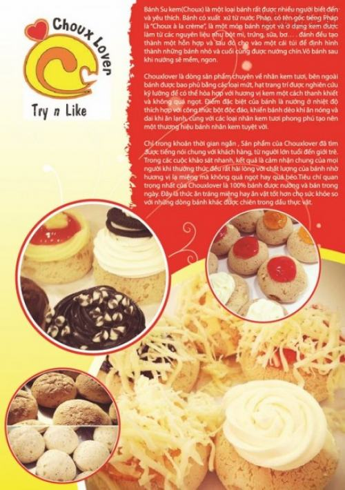 In Tờ rơi màu khổ A4 quảng cáo các loại kem