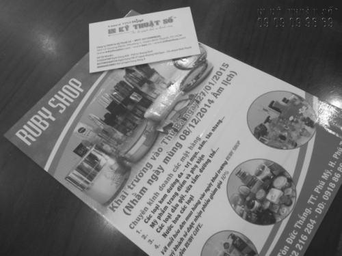 In Tờ rơi đen trắng nhanh, rẻ, đẹp tại Công ty TNHH In Kỹ Thuật Số