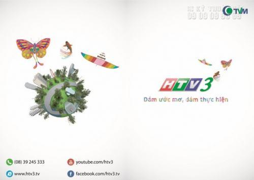 Tờ rơi thiết kế đẹp, in ấn chất lượng cao cho kênh HTV3 của Đài Truyền hình TP Hồ Chí Minh