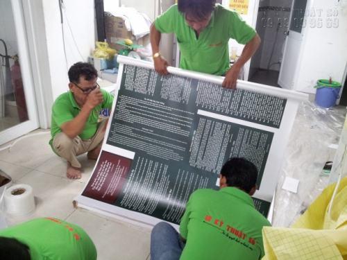 Gia công hàng PP cán format làm bảng biểu cho chương trình triển lãm