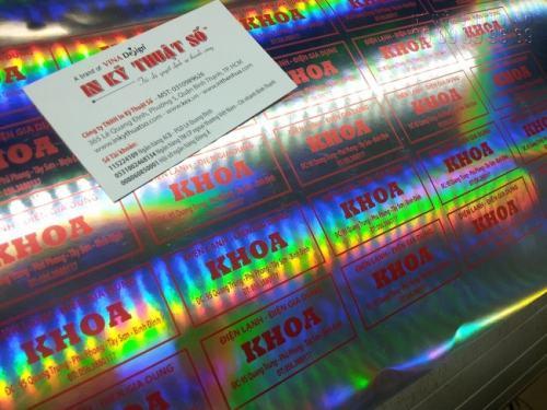 In tem decal 7 màu làm tem nhãn giá rẻ, in sắc nét tại Công ty TNHH In Kỹ Thuật Số
