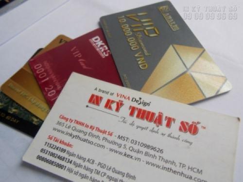 In thẻ VIP - in thẻ nhựa giá rẻ từ công ty in thẻ nhựa tại TPHCM