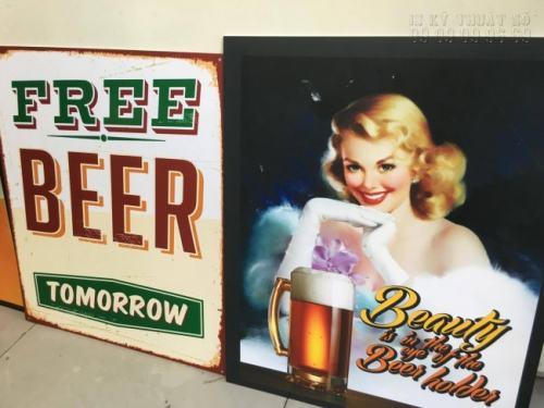 Không gian quán beer, quán bar của bạn thêm đẹp và tinh tế hơn chỉ với thành phẩm in PP cán format từ dịch vụ in PP giá rẻ của chúng tôi
