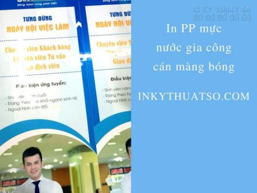 In PP làm poster chương trình tuyển dụng