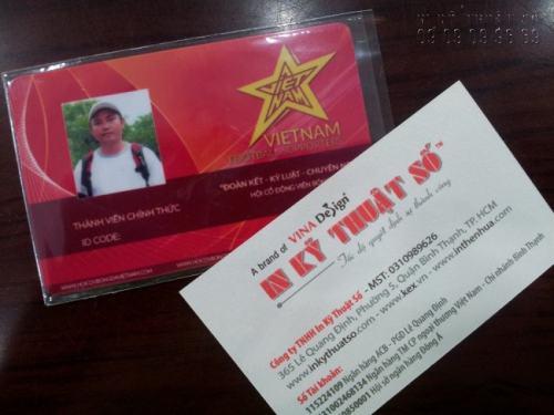 Liên hệ đặt in thẻ nhựa PVC tại In Kỹ Thuật Số để được tư vấn thiết kế, báo giá tốt nhất - Thiết kế thẻ nhựa thành viên Vietnam Footbal Supporter nổi bật và sắc nét thực hiện tại In Kỹ Thuật Số.