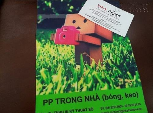 In PP trong nhà tại Công ty TNHH In Kỹ Thuật Số - Digital Printing Ltd