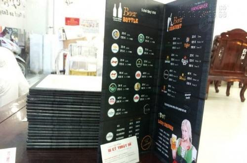 In pp cán formex menu, in pp các loại chất lượng cao tại Công ty TNHH In Kỹ Thuật Số - Digital Printing Ltd