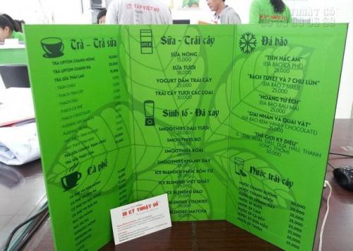 In pp menu được cán format chất lượng cao, chất liệu pp bền cùng màu mực tốt cho tấm menu rõ ràng, bắt mắt