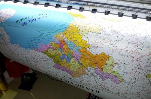 In PP bản đồ với chất liệu, màu mực tốt cho ra sản phẩm in PP chi tiết, rõ ràng sắc nét