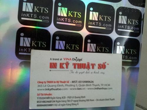 In decal phản bạc làm tem nhãn tại Công ty TNHH In Kỹ Thuật Số với chất lượng siêu đẹp