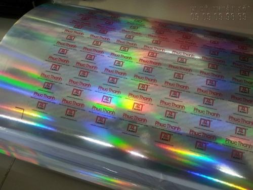 In tem 7 màu với chất liệu hologram chuyên dụng, chống hàng nhái hàng giả hiệu quả - Phúc Thành Audio đặt in tem 7 màu tại Công ty In Kỹ Thuật Số tại 365 Lê Quang Định, Phường 5, Quận Bình Thạnh, Tp.HCM
