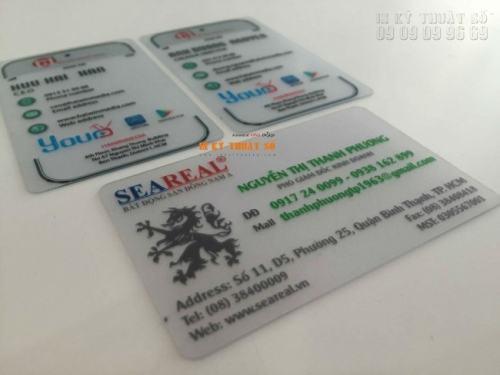 Thẻ nhân viên công ty được in trên lõi PVC trong suốt, in chất lượng cao tạo sự đẳng cấp, độc đáo cho chủ thẻ