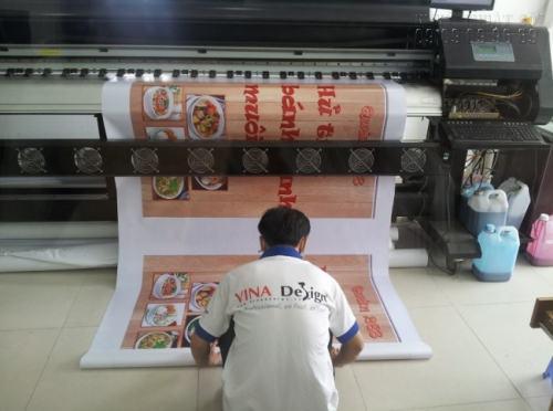 Băng rôn quảng cáo quán ăn - Sản phẩm in hiflex chất lượng cao với hình ảnh sắc nét, màu sắc chân thật.