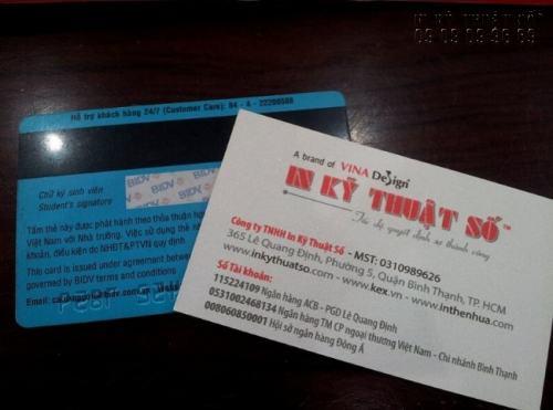 Thẻ ATM in dập nổi, in dải băng từ chứa thông tin bảo mật cho chủ thẻ, in ngay tại InKyThuatSo