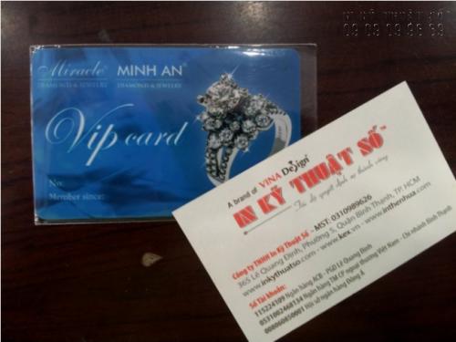 In thẻ nhựa số lượng ít với thẻ Vip thiết kế và in ấn chuyên nghiệp, ấn tượng tại InKyThuatSo