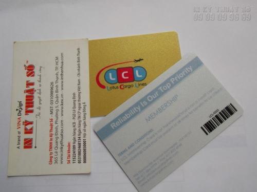 Đặt in thẻ nhựa số lượng ít với thẻ nhựa khuyến mãi, nhân viên, chăm sóc khách hàng, thẻ nhựa mã vạch