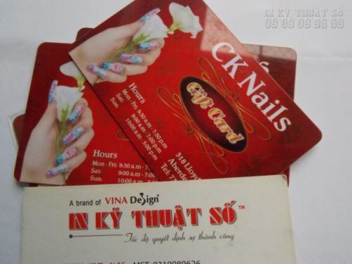 In thẻ nhựa làm thẻ VIP thiết kế ấn tượng, in sắc nét, phối màu chuẩn tiến hành in ngay tại xưởng InKyThuatSo